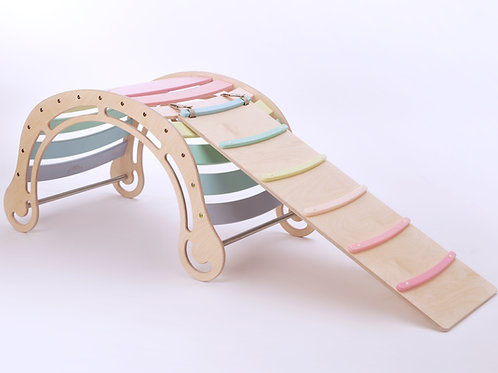 XXL Pastel Color Rocker - with ramp/slide