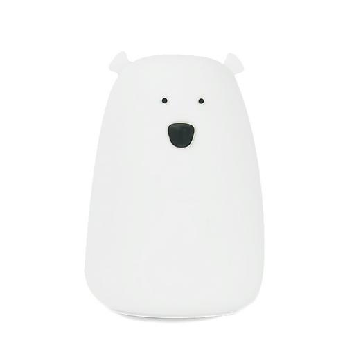 Bear Soft Silicon Nightlight - White