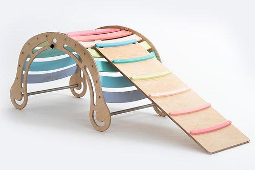 Foldable XXL  Rocker in Pastel Color+Slide/Ramp
