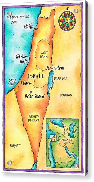map-of-israel-jennifer-thermes