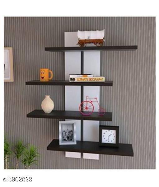 Attractive wooden shelves
