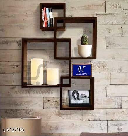 Wooden Wall Mounted Shelf Rack