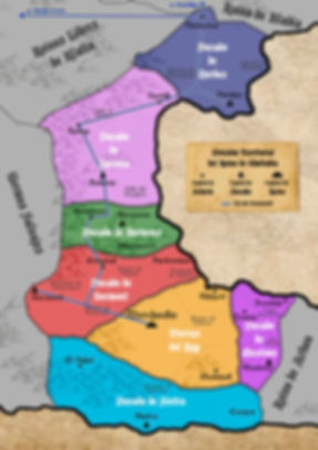 Mapa Ducados de Gholindia con Ferrocarri