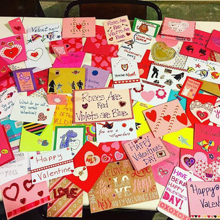 Just a few of the Valentines we made.