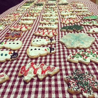 Just some of the cookies we decorated for our annual cookie decorating event.