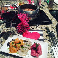 The land & sea fondue was delish from last night's Galentine's Event! #indyalphaphialumnae