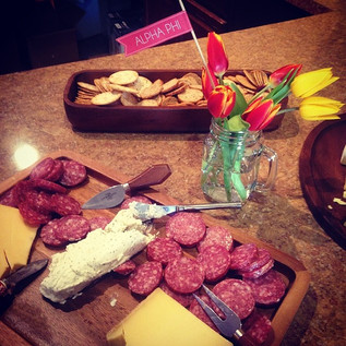 Cheese and charcuterie for a wine tasting with our sisters.