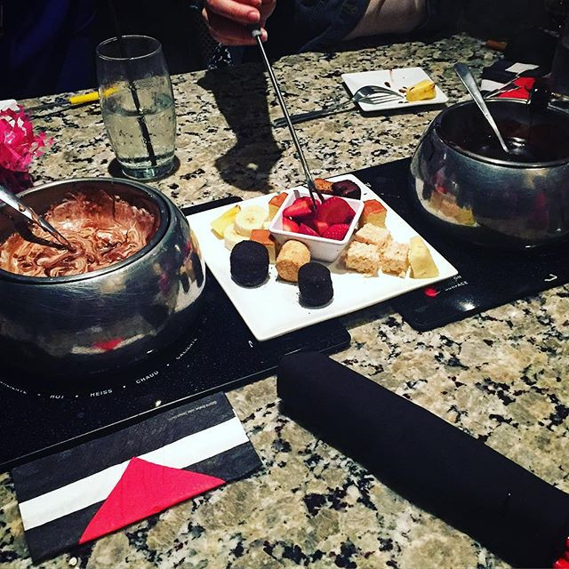 Fondue for our Galentine's event.