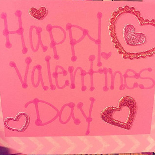 Decorating Valentine's for a local children's hospital.
