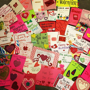 Just some of the Valentines we made.