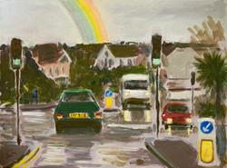 Falmouth on a Rainy Day