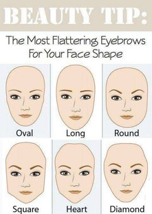 The best eyebrow shape for your face shape