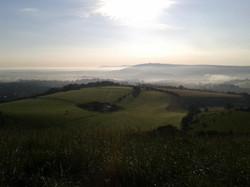 Steyning Bostal, near the top