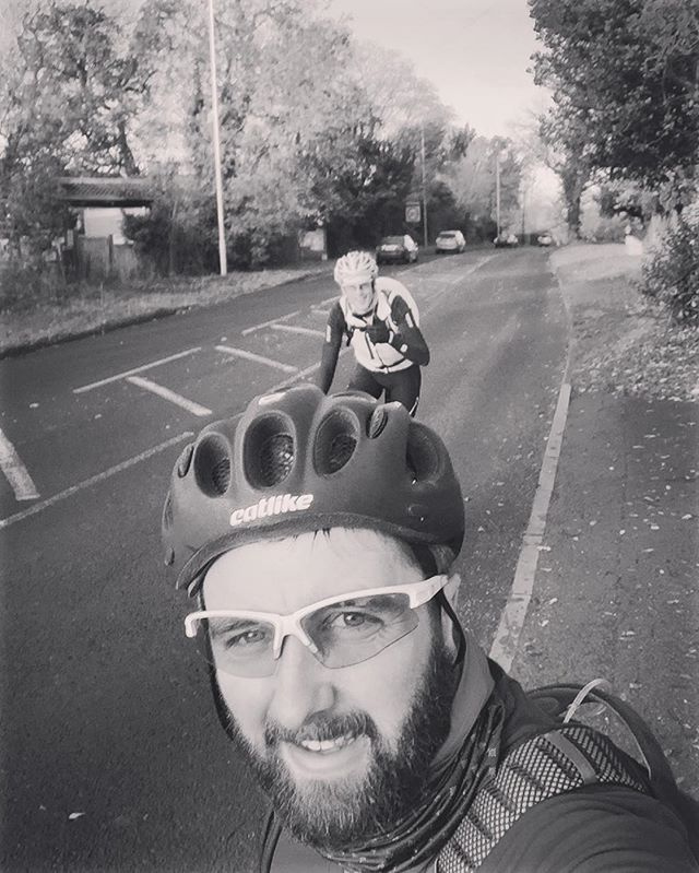 Me and Richard conquering a #climb near Watford, you'd think #London is flat, it's not in places