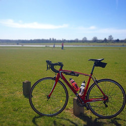 82miles round Berkshire including a stop at the Olympic rowing venue at Dorney Lake #ridelots #gohar