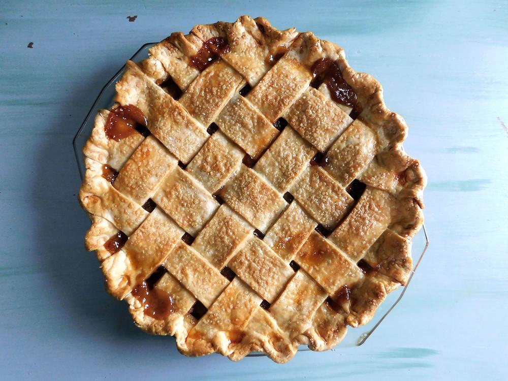 goat milk caramel apple pie
