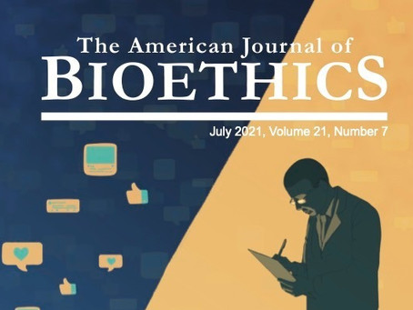 American Journal of Bioethics July 2021 Cover: Artificial Intelligence, Depression, and Social Media