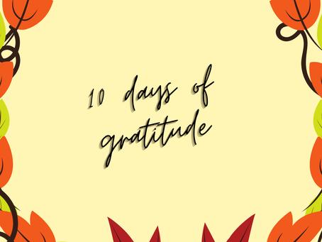 Ten Days of Gratitude