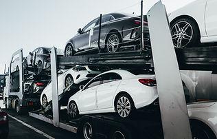Big car carrier truck of new luxury spor