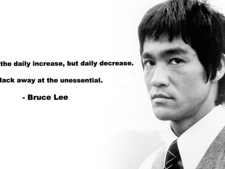 Bruce Lee, Minimalism and the Stay Sandwich