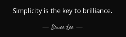 A quote from Bruce Lee