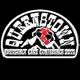 Queenstown 2021 logo white:black combo w