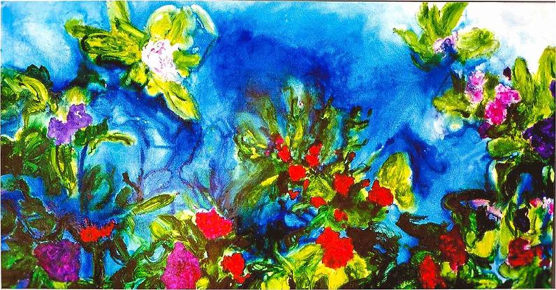 Deep Ocean Flower 200 x 100 cm Olieverf