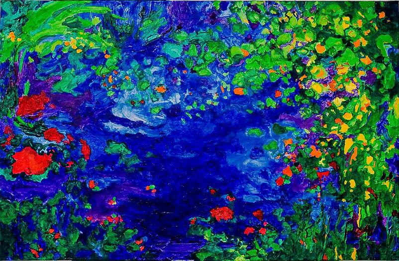 Bleu Summer 3     80 x 60 cm.    -50% €
