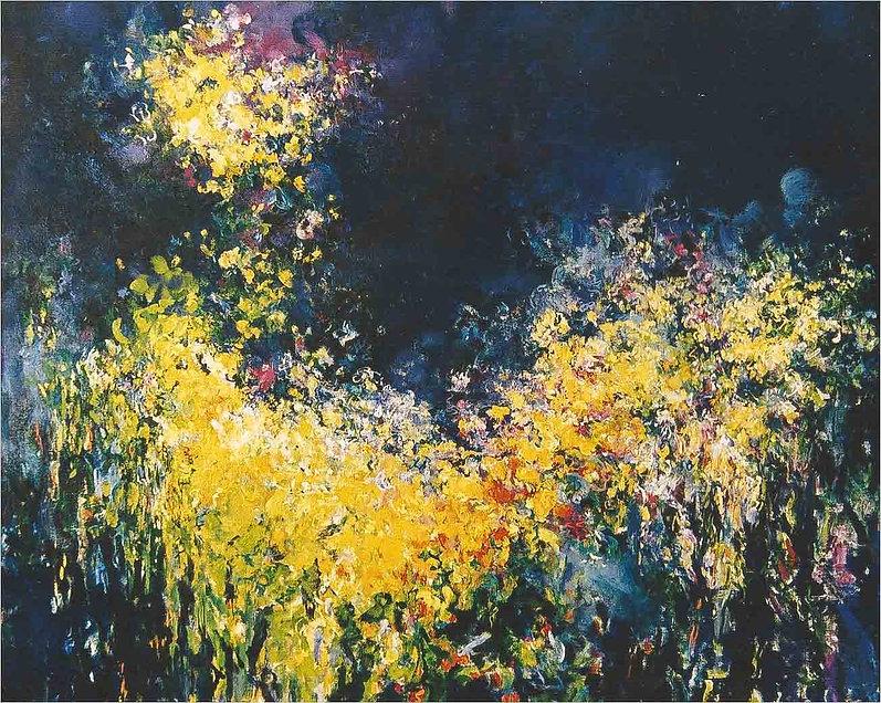 Tree at Night 125 x 115 cm   Olieverf op