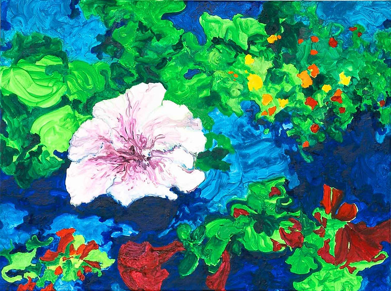 Bleu Summer 1 80 x 60 cm. € 250,-- -60%_