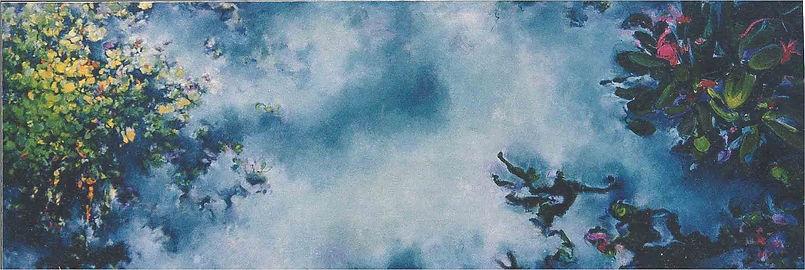 Nevelmeer 430 x 145 cm Olieverf op linne