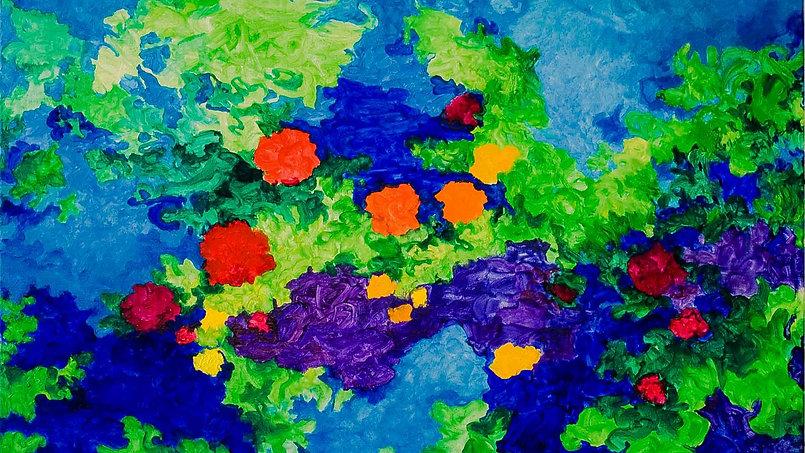 Bleu Summer 2  120 x 80 cm. -50% € 450,-