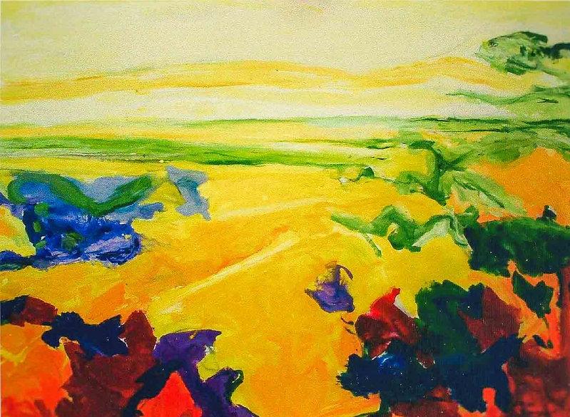 GeleWoestijn 120 x 100 cm Olieverf op li