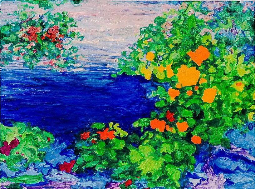 Bleu Summer 5 80 x 60 cm. € 250,-- -60%_