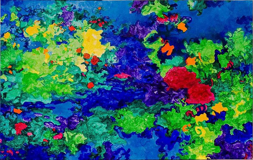 Bleu Summer 1    120x80 cm.  -60% € 450,