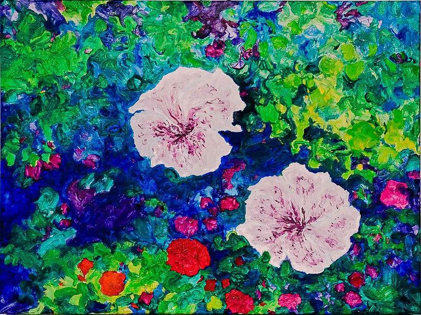 Bleu Summer 2 80 x 60 cm. € 250,-- -60%_