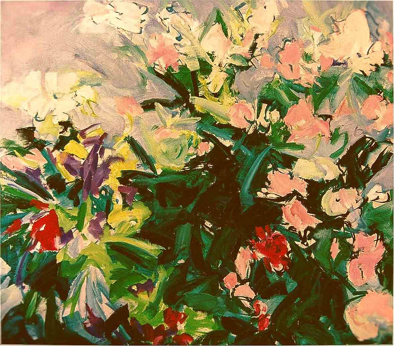 Rododendron 120 x 120 cm   Olieverf op l