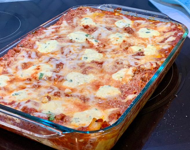 Turkey Sausage & Beef Lasagna