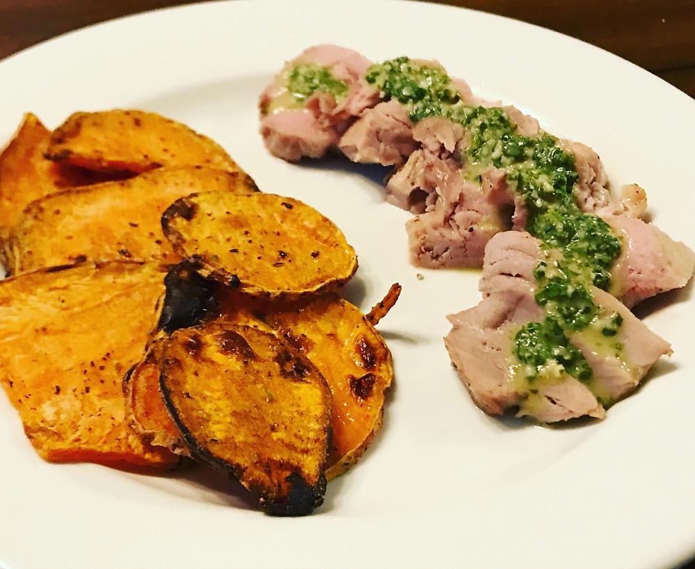 lime basil pork tenderloin