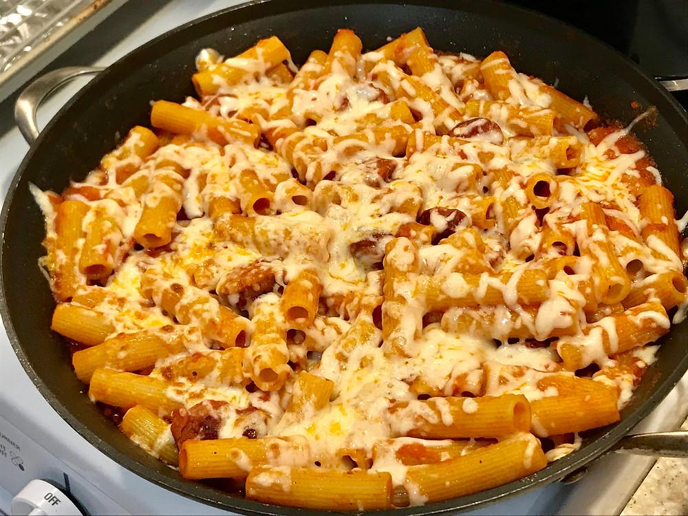 andouille sausage pasta marinara