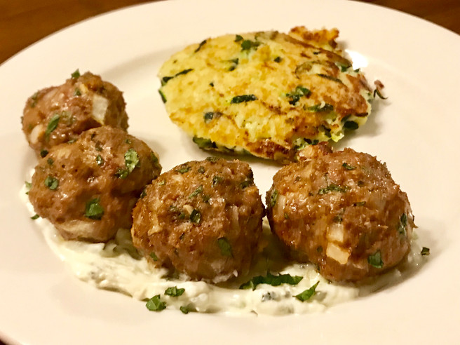 Moroccan Lamb Meatballs with Tzatziki