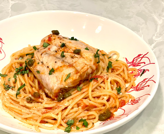 Snapper with Tomatoes, White Wine & Capers