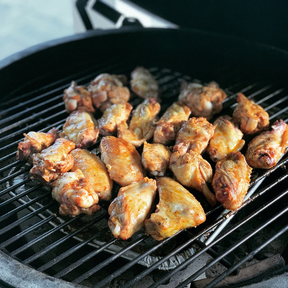 smoked grilled buffalo wings