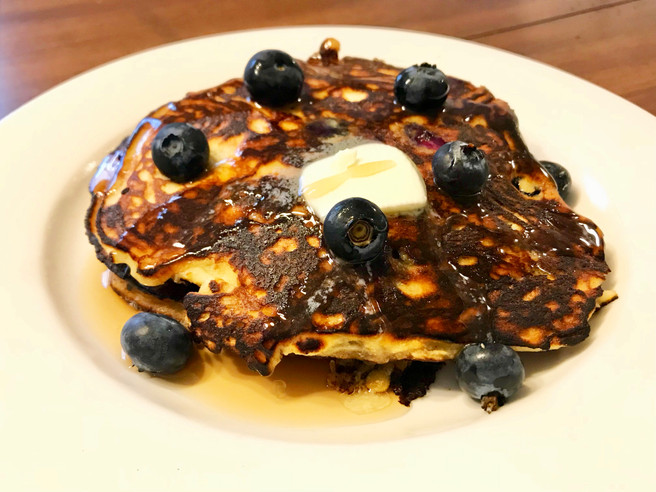Blueberry Coconut Flour Pancakes