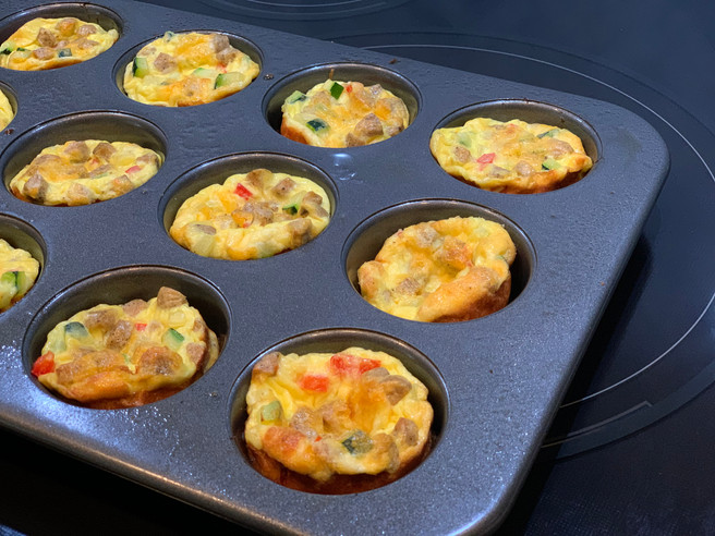 Chicken Sausage & Egg Frittata Cups