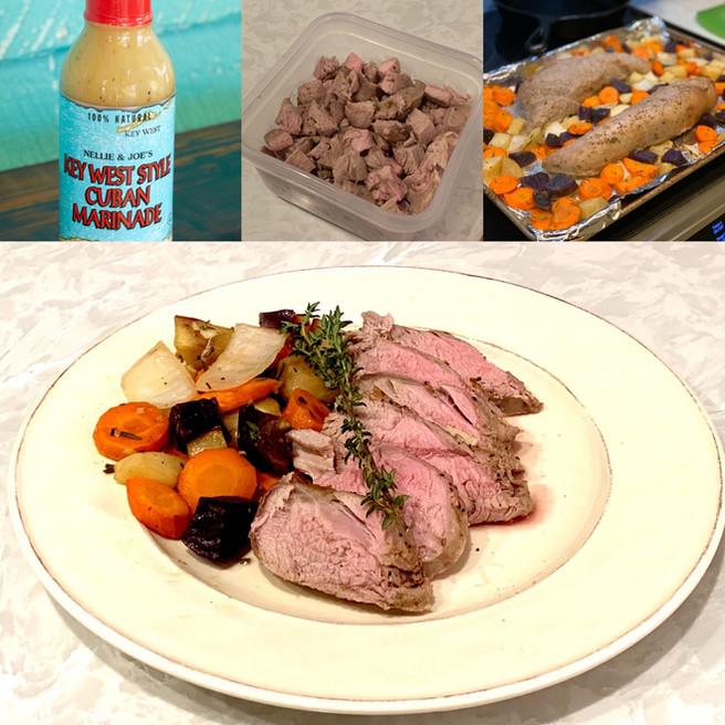 Key West Cuban Marinated Pork Tenderloin & Roasted Vegetables