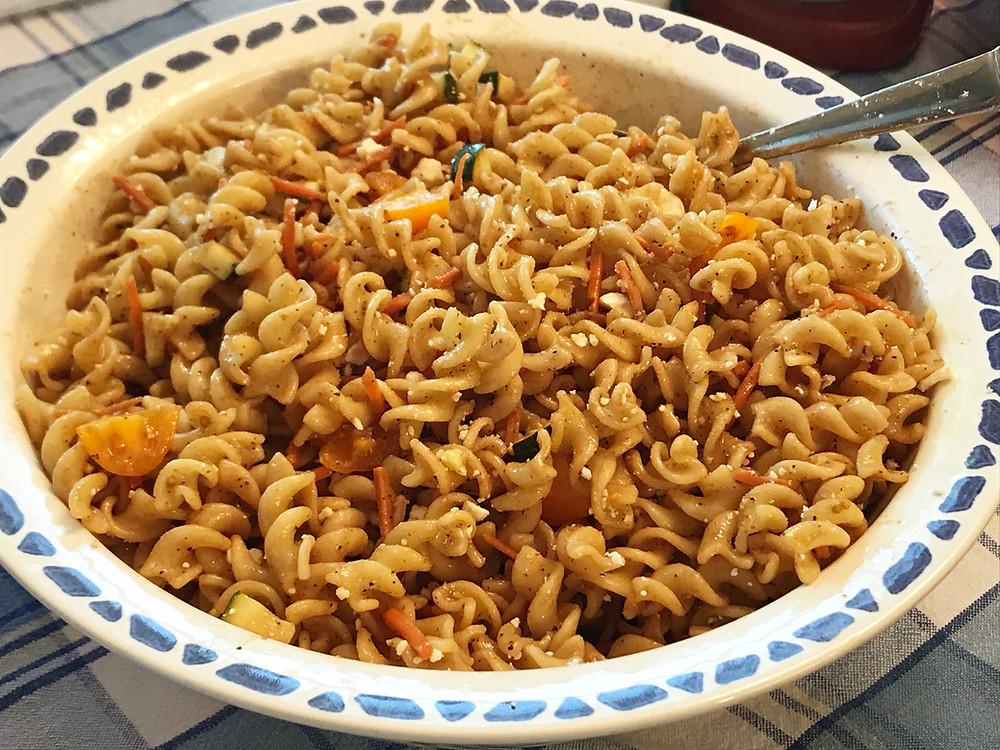 balsamic summer pasta salad