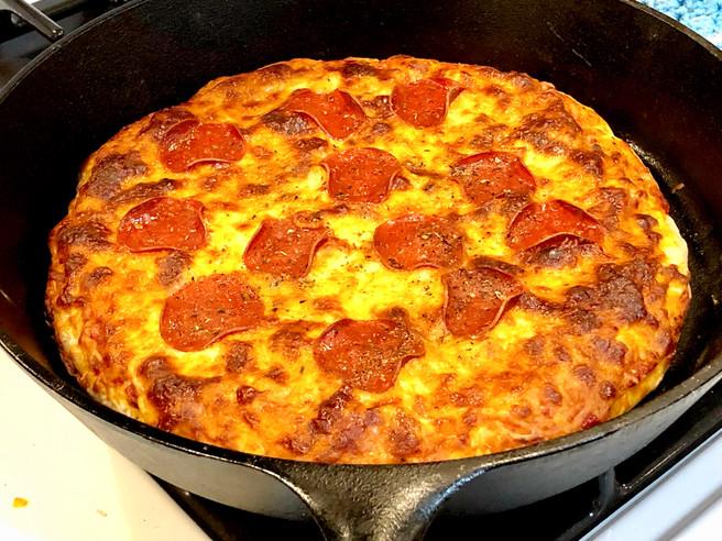 Cast Iron Pepperoni Pizza