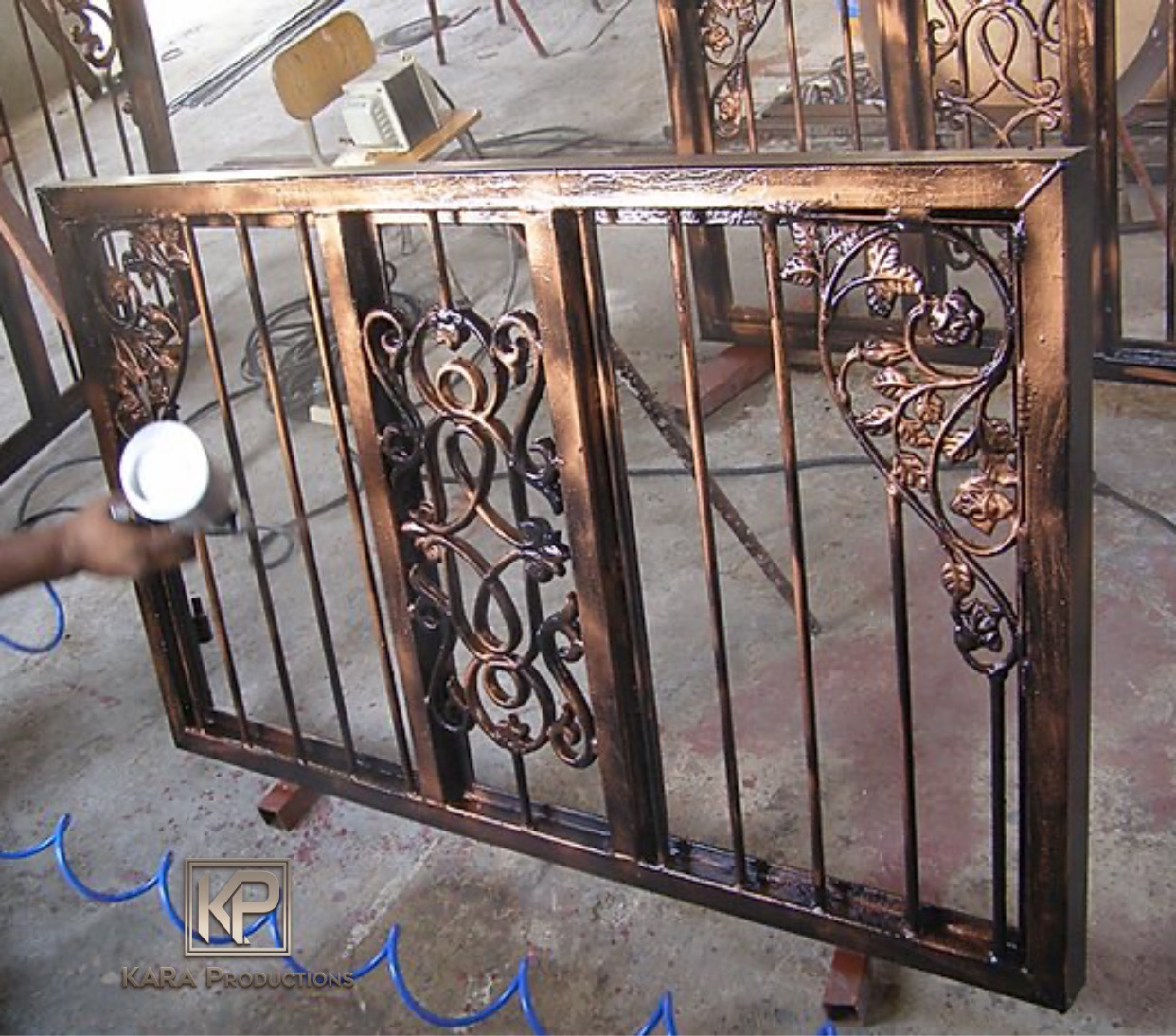 Iron Fence Window