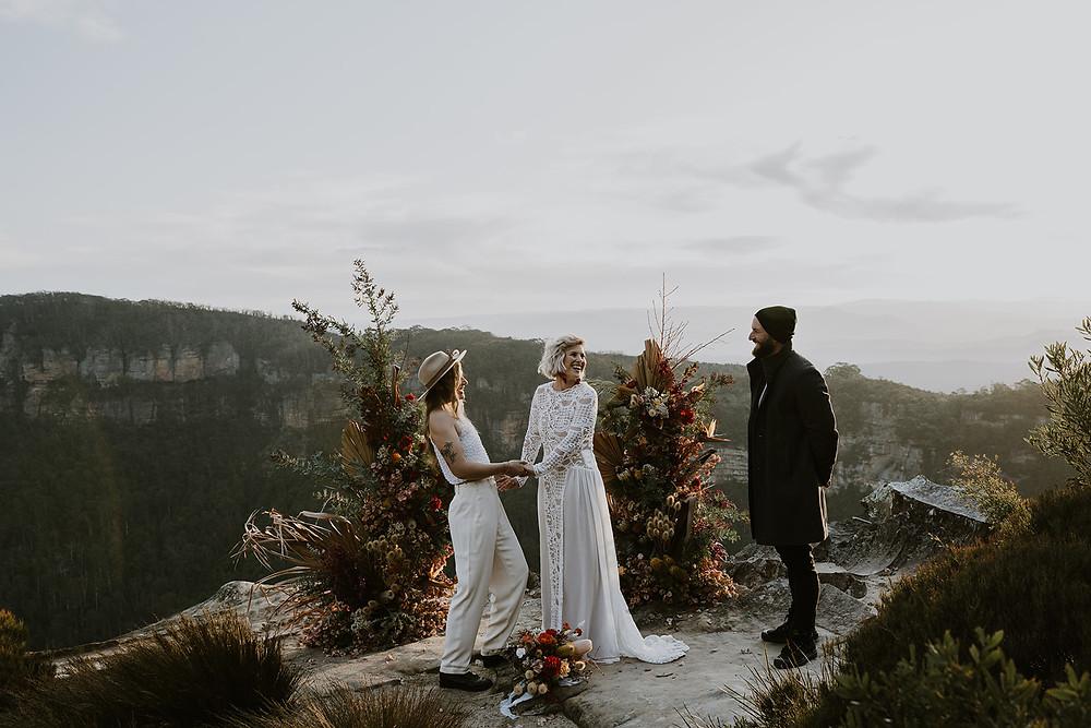 Same Sex wedding Blue Mountains